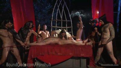 Outdoor Halloween Ritual Fuck