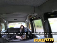 Preview 1 of Faketaxi Lady In Stockings Gets Creampied