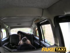 Preview 5 of Faketaxi Lady In Stockings Gets Creampied