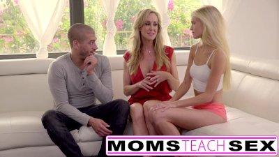 Moms Teach Sex - Big tit Step mom catches Step daughter