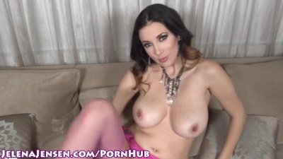 Babe Jelena Jensen Masturbates With High Heels!