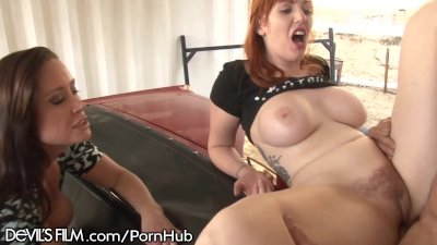 Mom helps Redhead Daughter Fuc