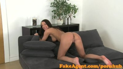 FakeAgent Super fit brunette takes juicy Creampie in Casting