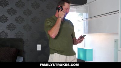 Family Strokes - Cute Teen Fucks Step-Dad To Get Phone Back