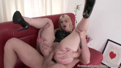 FirstAnalQuest – First Anal Fuck with an Innocent Slavic Coed Blonde