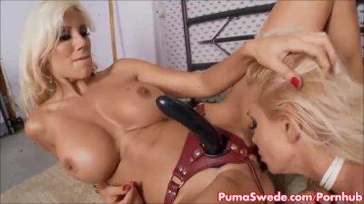 Euro babe Puma Swede Fucks & Plays With Sandy!