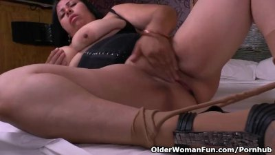 Big titted milf Laura fulfills a deep need for masturbation