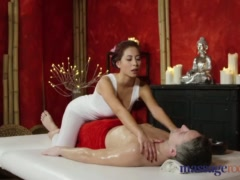 Preview 3 of Massage Rooms Nympho Asian Fucks Big Cock Before Hot Hand Job