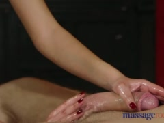 Preview 6 of Massage Rooms Nympho Asian Fucks Big Cock Before Hot Hand Job