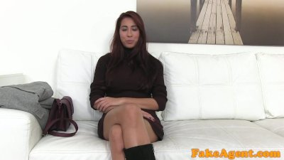 Fake Agent Amazing beautiful tits and ass model fucked hard