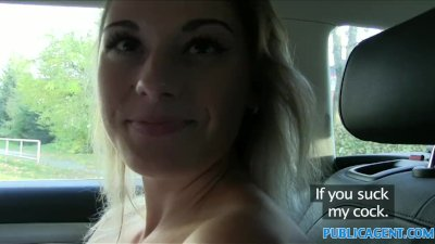 PublicAgent Sexy teacher fucking in a car