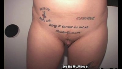 Dirty D Tattoo Blonde Slut Sucking Off Glory Hole Penis