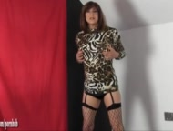 Hot Milf finds sissy slut wanking big cock so gives ass and cock punishment