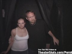 Cute anal Bunny Blonde Bitch Banged in Porno Theater