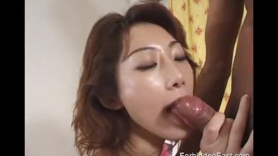 Oriental girl in kinky white b