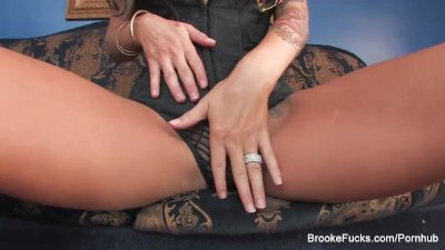 Blonde hottie Brooke needs two cocks to be satisfied preview