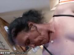 WhiteGhetto Hairy Granny Buttfucking