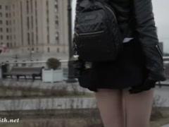 Preview 2 of Jeny Smith Seamless Pantyhose Public Upskirt