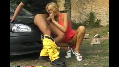 skinny german babe fucket on the street