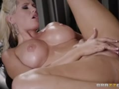 Alena Croft gets oiled up and pounded - Brazzers