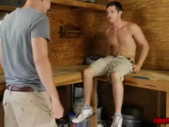 Colby and Mickey in the Shed