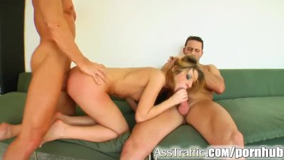 Ass Traffic Skinny chick Debbie gets that anal dp treatment