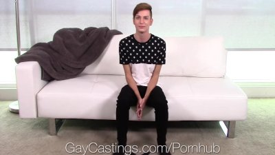 GayCastings - Porn Audition for Lennox Gray Goes Anal