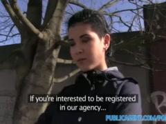 PublicAgent Hot teen babe fucks big cock in public place