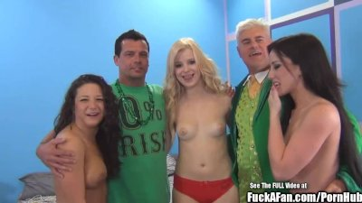 Sperm Swapping Hot Titty Blonde Fuck a Fan Blonde
