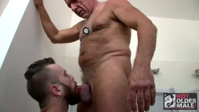Dirty Boy Dominick August Takes Daddy Rex Silver\'s Cock In Public Bathroom