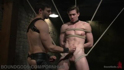Hunk Flogged And Fucked