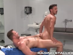 RagingStallion Hairy Hole Fucked In Locker Room