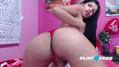 Hot Shemale Ass Worship and Cock Tugging