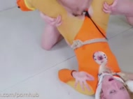 Submissive Blond Bunny Girl Gets Brutal Anal Fucking
