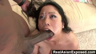 RealAsianExposed - Kya Tropic\'s Holes Are Too tight For huge Black Cock