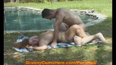 Granny gets FUCKED in PUBLIC