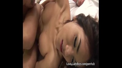 Ladyboy and man fucking each other