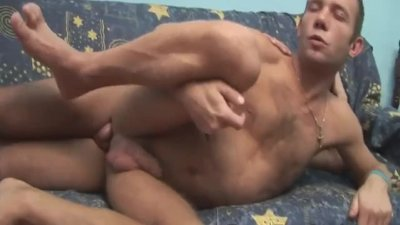 Massive cumshot coming from this two bareback gay