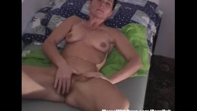 Hot Sexy Cougar Finger Fucked And Plays Dildo