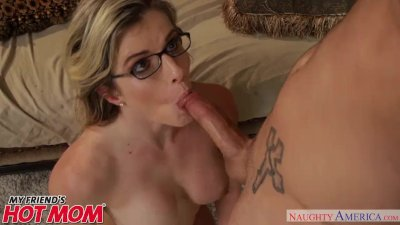 Horny MILF Cory Chase sits on her son's friend's face - Naughty America