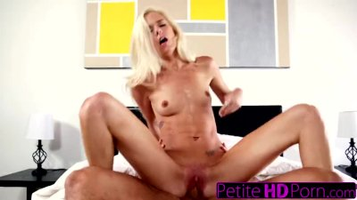 Tiny Blonde Teen Fucks Step Dad In Moms Bed!