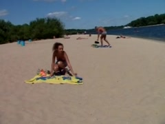 Preview 1 of Step Daughter Just Visit Real Nude Beach