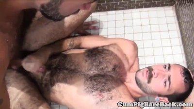 Otter barebacking under the shower
