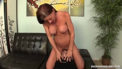 Horny milf tries her sex toy