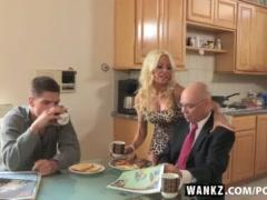 WANKZ- Busty MILF Helly Mae Face Creamed