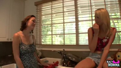 Lesbian stepmom fingering and pussylicking preview