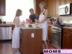 MomsTeachSex - Horny Step Mom Tricks teen Into Hot Threeway