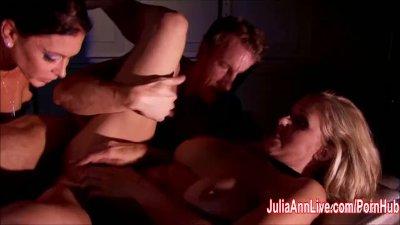Blonde Milf Julia Ann & GF Gagged and Fucked!