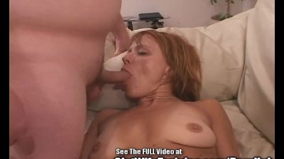 Freckly Red Head Wife Screwed by Two Horny Pricks!