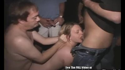 Big Tit Blonde Sally Rides Cocks in Porno Theater